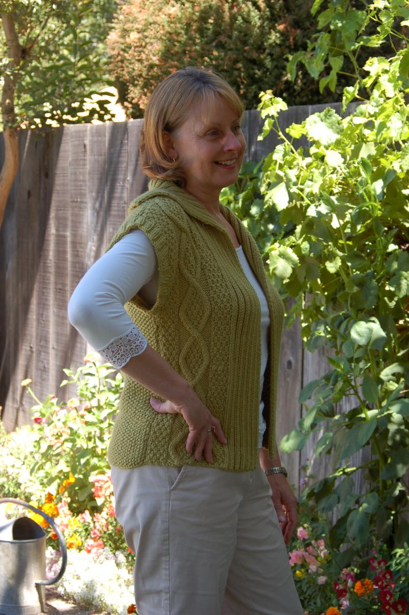 Cabled Vest- Debbie Bliss Cashmerino International Knitting Studio